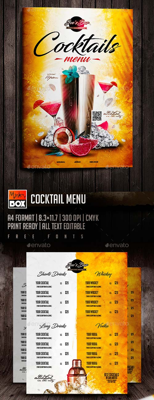 GraphicRiver Cocktail Menu