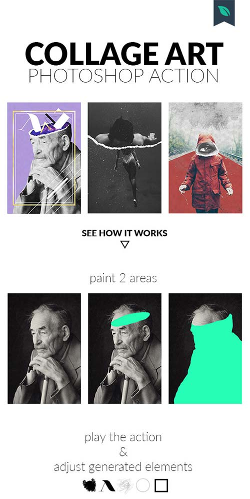 GraphicRiver Collage Art Photoshop Action