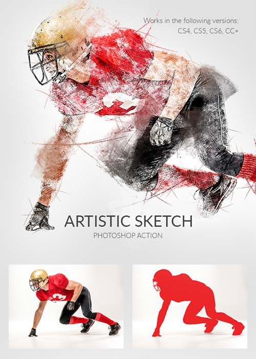 GraphicRiver Artistic Sketch Photoshop Action