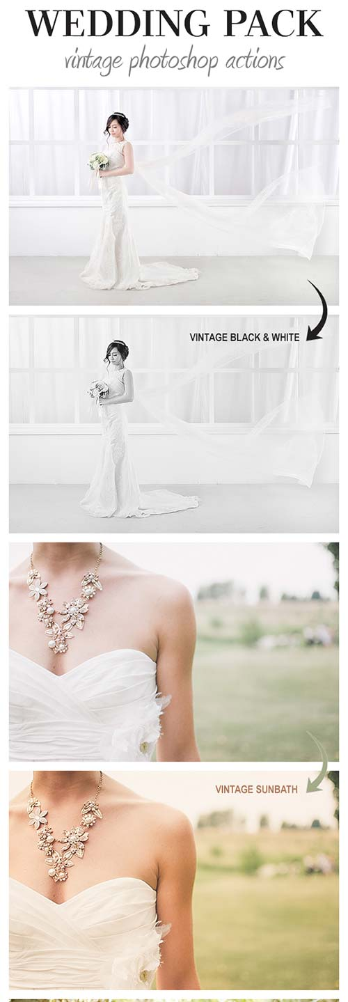 GraphicRiver Wedding Pack - Vintage Photoshop Actions