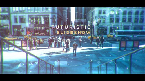 Futuristic Slideshow - After Effects Project (Videohive)