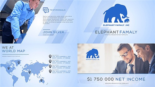 Clean Business Company Profile - After Effects Project (Videohive