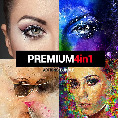 GraphicRiver Premium - 4in1 Photoshop Actions Bundle