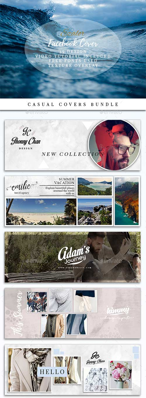 GraphicRiver Casual Facebook Covers Bundle