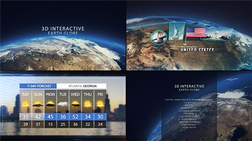 3D Interactive Earth Globe - After Effects Project (Videohive)