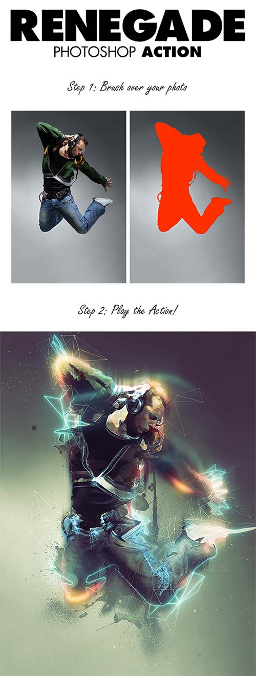 GraphicRiver Renegade Photoshop Action