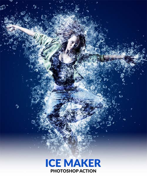 GraphicRiver Ice Maker Photoshop Action