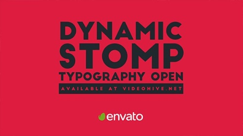 Dynamic Stomp Typography Open - After Effects Project (Videohive)
