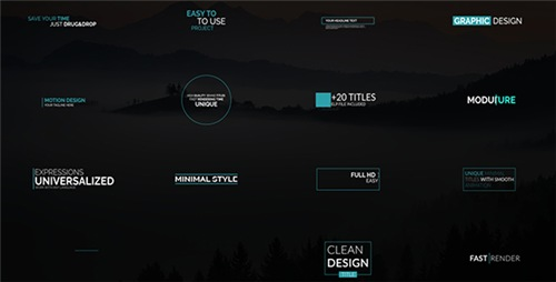 Minimal Tiltes Pack - After Effects Project (Videohive)