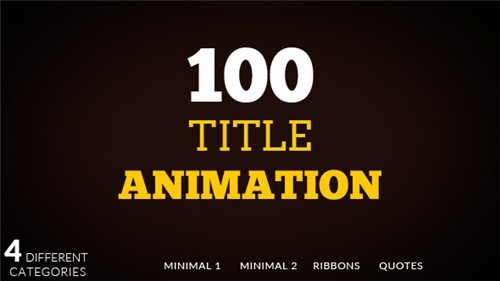 100 Title animation - After Effects Project (Videohive)