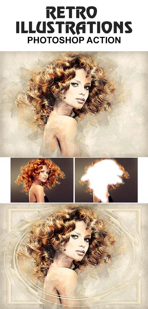 GraphicRiver Retro Illustrations Photoshop Action