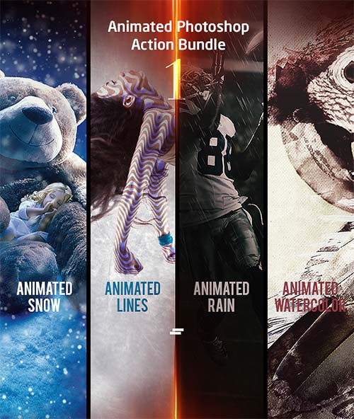 GraphicRiver Animated Photoshop Action Bundle 01