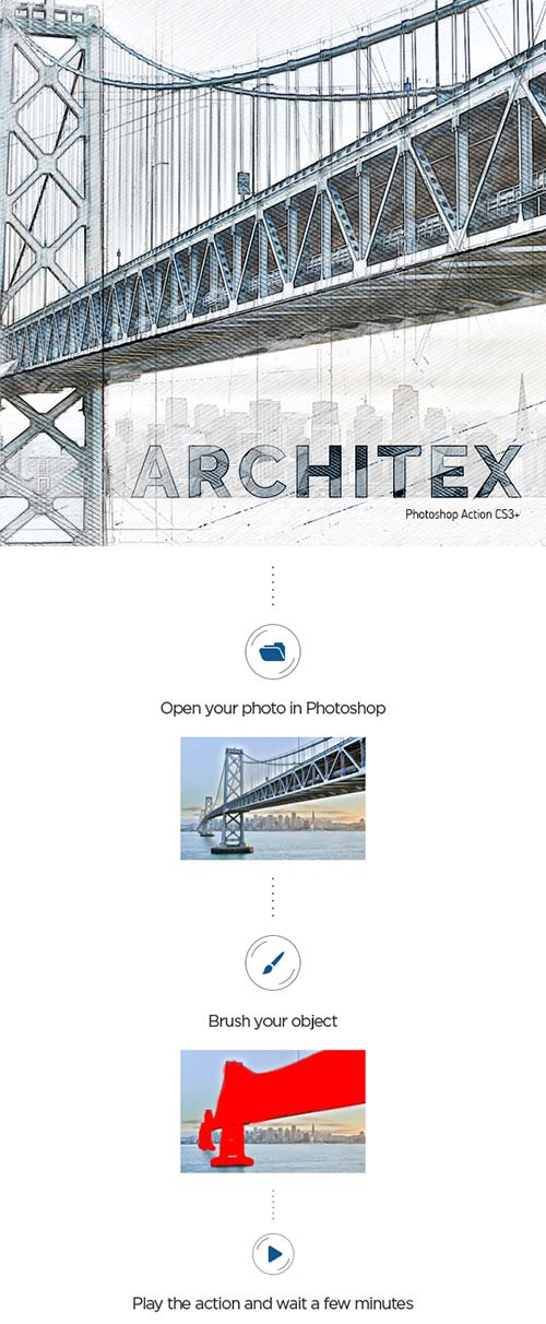 GraphicRiver Architex CS3+ Photoshop Action