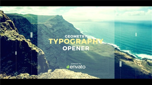 Geometry Typography Opener - After Effects Project (Videohive)