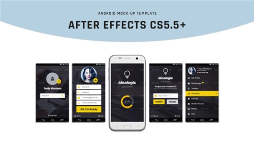 Android Mock-Up - After Effects Project (Videohive)