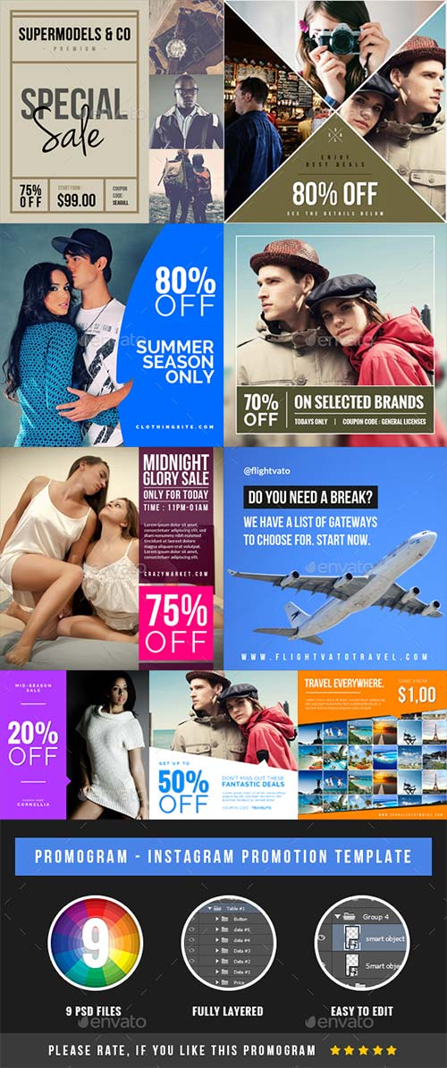 GraphicRiver Promogram Vol.01 - Instagram Promotion Template