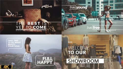 Minimal Big Titles Slides - After Effects Project (Videohive)