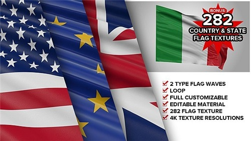 Custom Element 3D Flag - After Effects Project (Videohive)