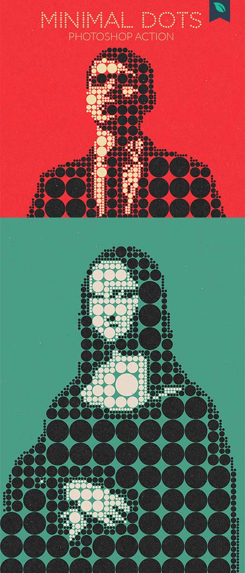 GraphicRiver Minimal Dots Photoshop Action