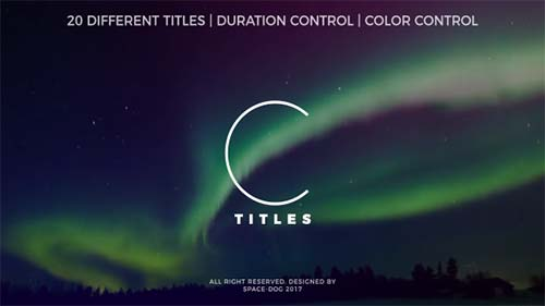 Clean Titles - After Effects Project (Videohive)