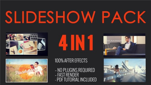 SlideShow Pack 4 in 1 - After Effects Project (Videohive)