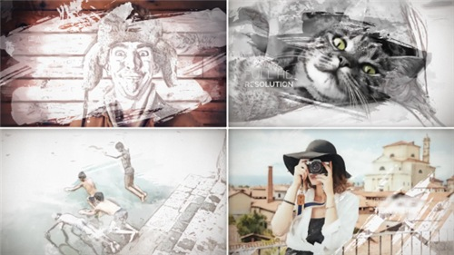 Painted Slideshow - After Effects Project (Videohive)