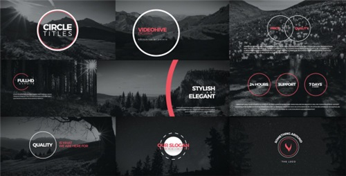Circle Titles - After Effects Project (Videohive)