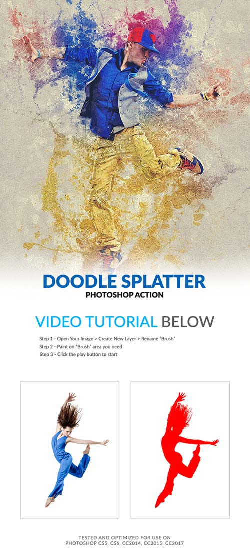 GraphicRiver Doodle Splatter Photoshop Action