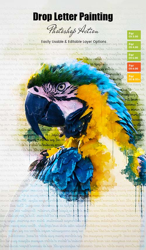 GraphicRiver Drop Letter Painting Action