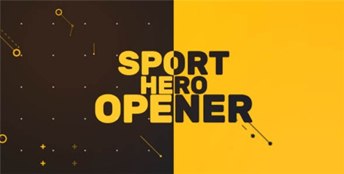 Sport Hero Opener - After Effects Project (Videohive)