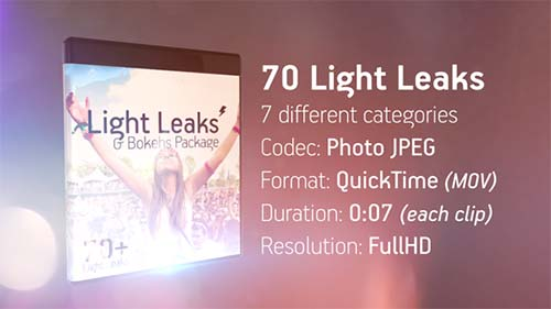Light Leaks & Bokehs Package - After Effects Motion Graphics (Videohive)