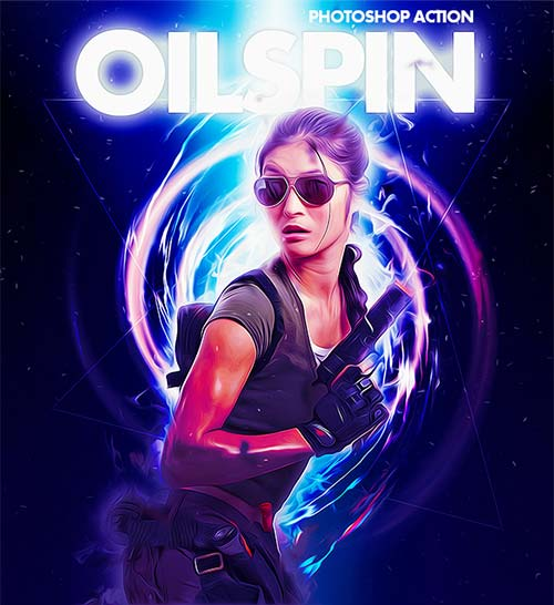GraphicRiver Oilspin Photoshop Action