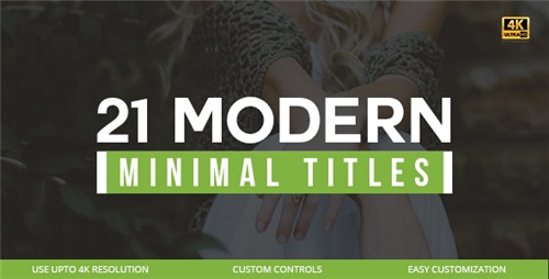 21 Modern Titles - After Effects Project (Videohive)