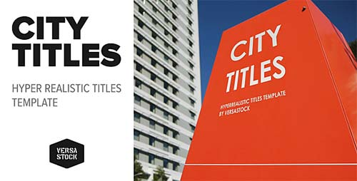 City Titles | Realistic Titles Opener - After Effects Project (Videohive)