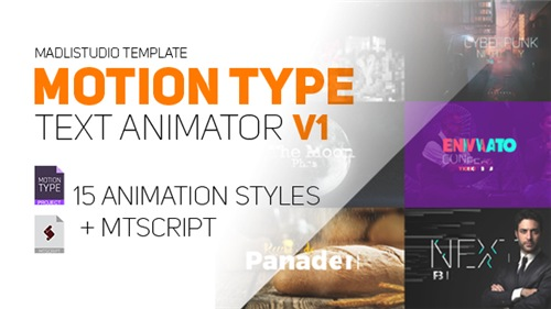 Motion Type - Text Animator - After Effects Script (Videohive)