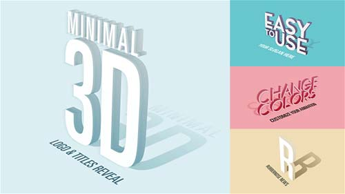 Minimal 3D - Logo & Titles Reveal - After Effects Project (Videohive)