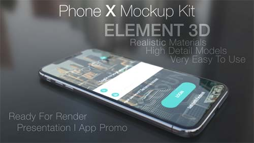 Phone X Mockup Kit - After Effects Project (Videohive)
