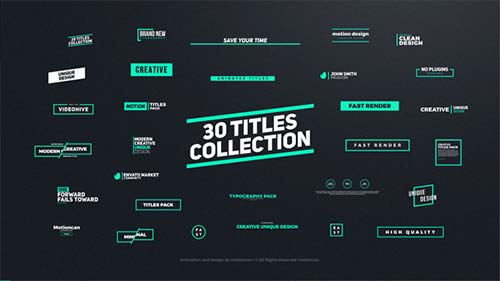 Titles Animation - After Effects Project (Videohive)