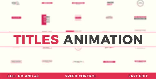 Titles Animation 20676995 - After Effects Project (Videohive)