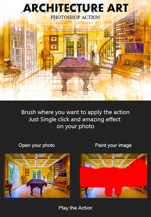 GraphicRiver Architecture Art Photoshop Action