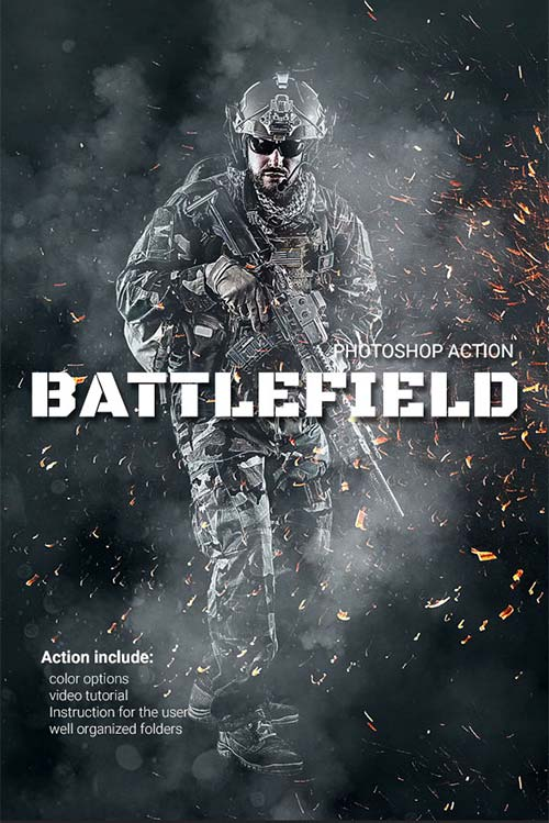GraphicRiver Battlefield Photoshop Action 20908798