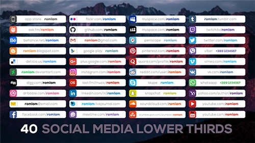 Social Media Lower Thirds - After Effects Project (Videohive)