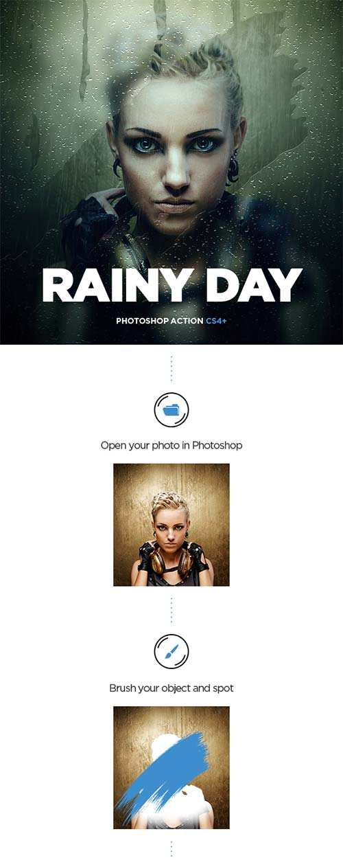 GraphicRiver Rainy Day Photoshop Action CS4+