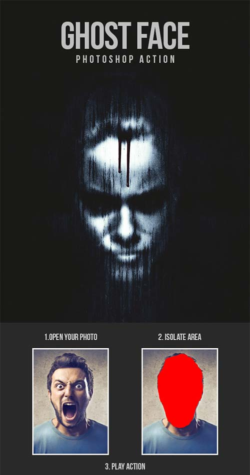 GraphicRiver Ghost Face - Photoshop Action