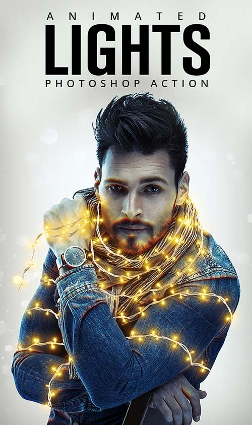 GraphicRiver Animated Lights Photoshop Action