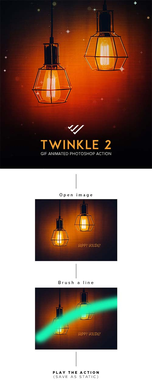 GraphicRiver Gif Animated Twinkle 2 Photoshop Action