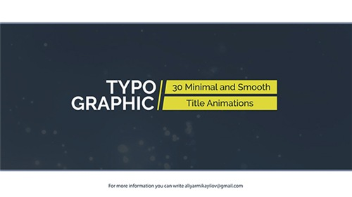 Typographic - 30 Title Animations - After Effects Project (Videohive)