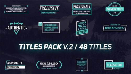 Titles Pack V.2 - After Effects Project (Videohive)