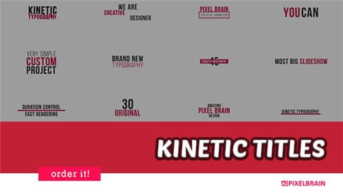 Kinetic Typography 20880695 - After Effects Project (Videohive)