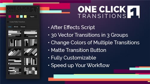 One Click Transitions Vol.1 - After Effects Project (Videohive)
